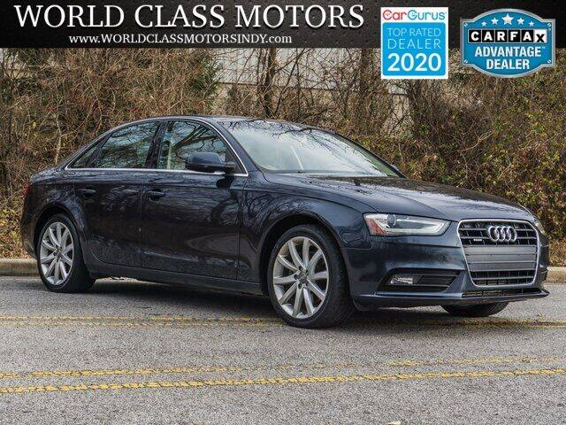 2013 Audi A4 for sale at World Class Motors LLC in Noblesville IN