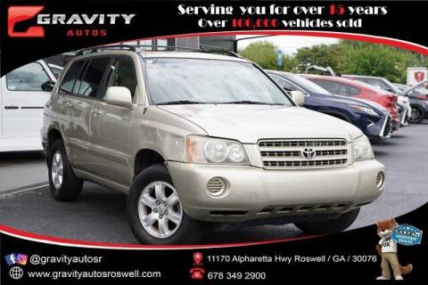 2002 Toyota Highlander for sale at Gravity Autos Roswell in Roswell GA