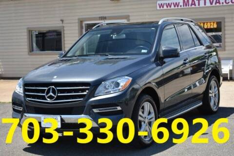 2015 Mercedes-Benz M-Class for sale at MANASSAS AUTO TRUCK in Manassas VA