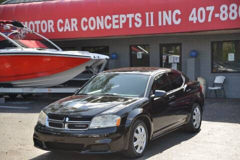 2012 Dodge Avenger for sale at Motor Car Concepts II - Apopka Location in Apopka FL