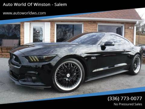 2015 Ford Mustang for sale at Auto World Of Winston - Salem in Winston Salem NC