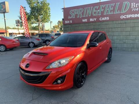 2010 Mazda MAZDASPEED3 for sale at SPRINGFIELD BROTHERS LLC in Fullerton CA