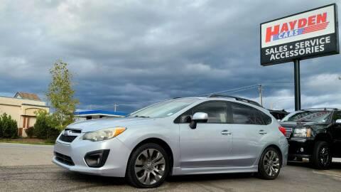 2013 Subaru Impreza for sale at Hayden Cars in Coeur D Alene ID