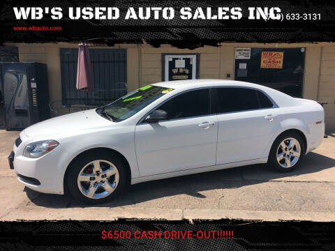 2012 Chevrolet Malibu for sale at WB'S USED AUTO SALES INC in Houston TX