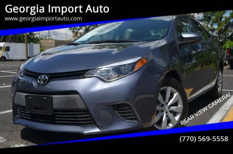 2016 Toyota Corolla for sale at Georgia Import Auto in Alpharetta GA