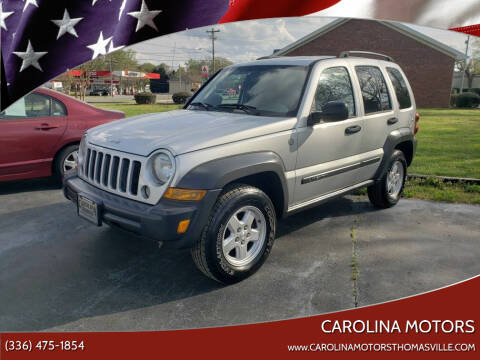 2007 Jeep Liberty for sale at CAROLINA MOTORS in Thomasville NC