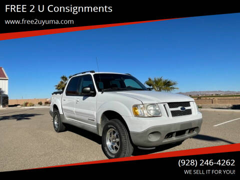 2001 Ford Explorer Sport Trac for sale at FREE 2 U Consignments in Yuma AZ
