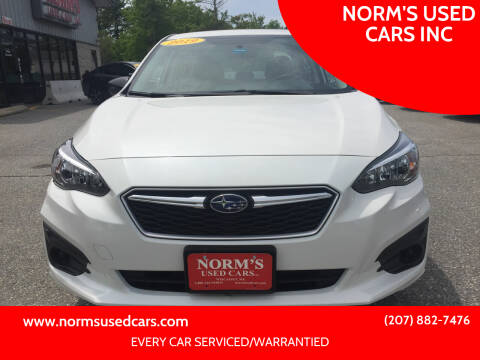 2019 Subaru Impreza for sale at NORM'S USED CARS INC in Wiscasset ME