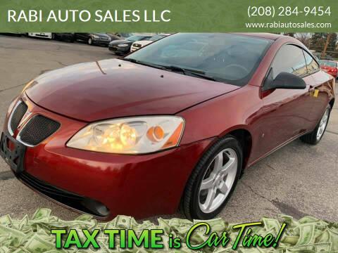2009 Pontiac G6 for sale at RABI AUTO SALES LLC in Garden City ID