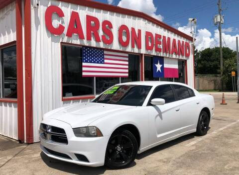 2014 Dodge Charger for sale at Cars On Demand 3 in Pasadena TX