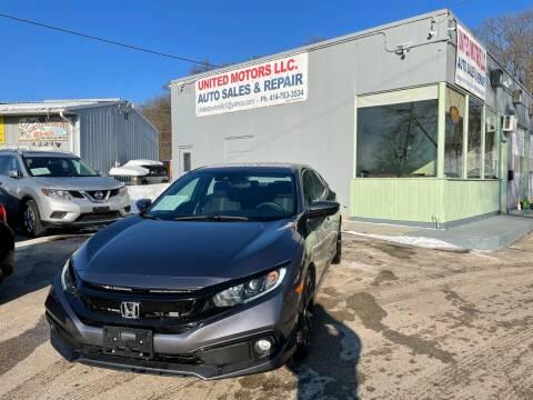 2020 Honda Civic for sale at United Motors LLC in Saint Francis WI