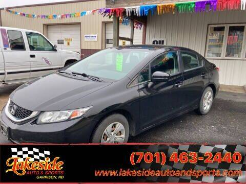 2015 Honda Civic for sale at Lakeside Auto & Sports in Garrison ND