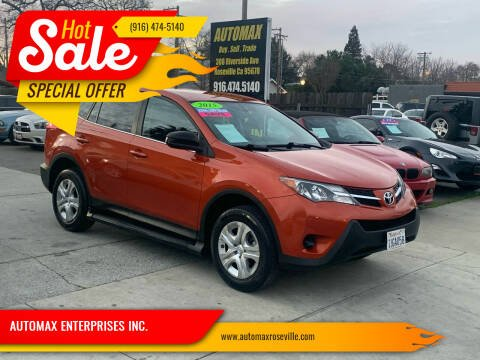 2015 Toyota RAV4 for sale at AUTOMAX ENTERPRISES INC. in Roseville CA