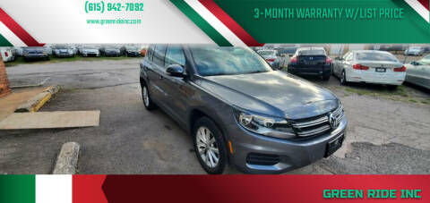 2014 Volkswagen Tiguan for sale at Green Ride Inc in Nashville TN