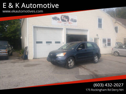 2008 Honda CR-V for sale at E & K Automotive in Derry NH