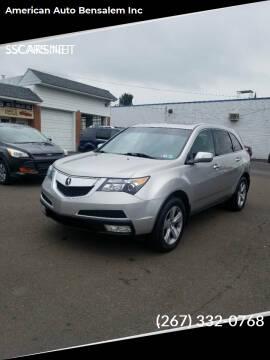 2012 Acura MDX for sale at American Auto Bensalem Inc in Bensalem PA