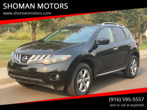 2009 Nissan Murano for sale at SHOMAN MOTORS in Davis CA