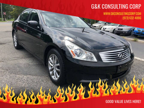 2007 Infiniti G35 for sale at G&K Consulting Corp in Fair Lawn NJ