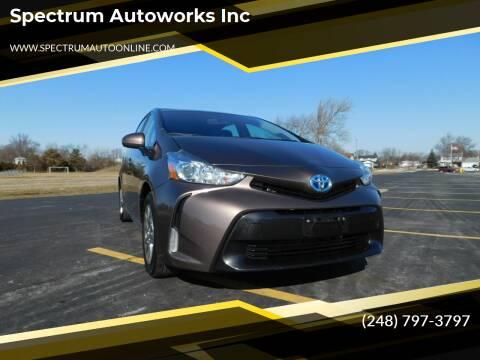 2016 Toyota Prius v for sale at Spectrum Autoworks Inc in Oak Park MI
