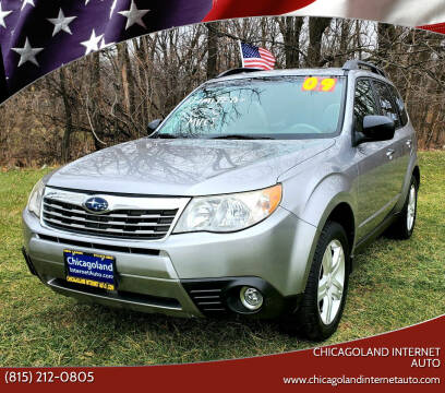 2009 Subaru Forester for sale at Chicagoland Internet Auto - 410 N Vine St New Lenox IL, 60451 in New Lenox IL