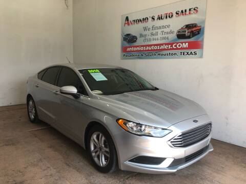 2018 Ford Fusion for sale at Antonio's Auto Sales in South Houston TX