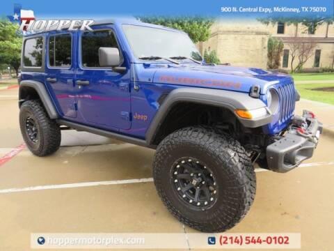 2018 Jeep Wrangler Unlimited for sale at HOPPER MOTORPLEX in Mckinney TX