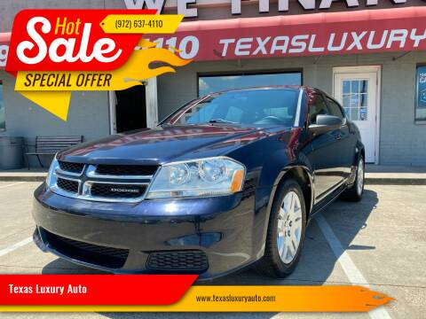 2011 Dodge Avenger for sale at Texas Luxury Auto in Cedar Hill TX