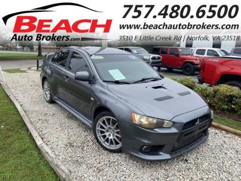 2010 Mitsubishi Lancer Evolution for sale at Beach Auto Brokers in Norfolk VA