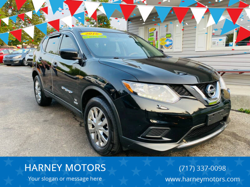 2016 Nissan Rogue for sale at HARNEY MOTORS in Gettysburg PA