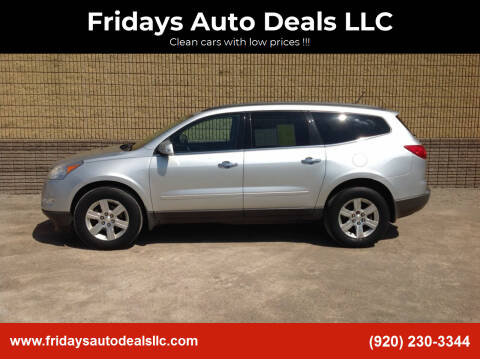2010 Chevrolet Traverse for sale at Fridays Auto Deals LLC in Oshkosh WI