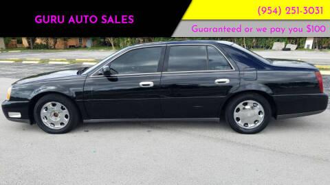 2001 Cadillac DeVille for sale at Guru Auto Sales in Miramar FL
