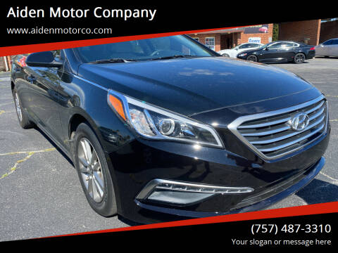 2015 Hyundai Sonata for sale at Aiden Motor Company in Portsmouth VA