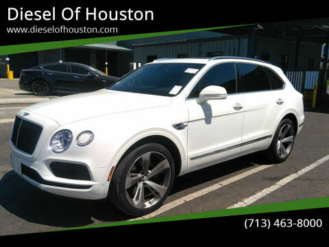 2019 Bentley Bentayga for sale at Diesel Of Houston in Houston TX