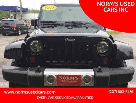 2011 Jeep Wrangler Unlimited for sale at NORM'S USED CARS INC in Wiscasset ME