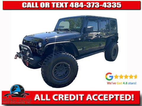 2009 Jeep Wrangler Unlimited for sale at World Class Auto Exchange in Lansdowne PA