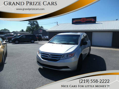 2012 Honda Odyssey for sale at Grand Prize Cars in Cedar Lake IN