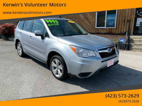 2015 Subaru Forester for sale at Kerwin's Volunteer Motors in Bristol TN