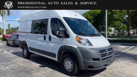 2017 RAM ProMaster Cargo for sale at Presidential Auto  Sales & Service in Delray Beach FL