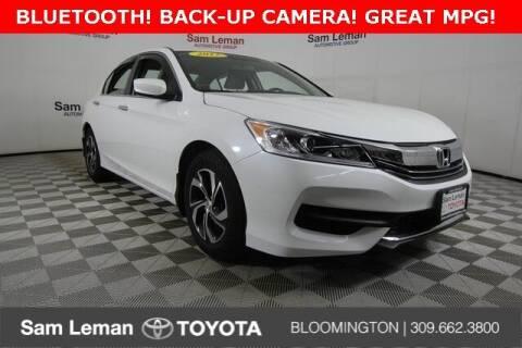 2017 Honda Accord for sale at Sam Leman Toyota Bloomington in Bloomington IL