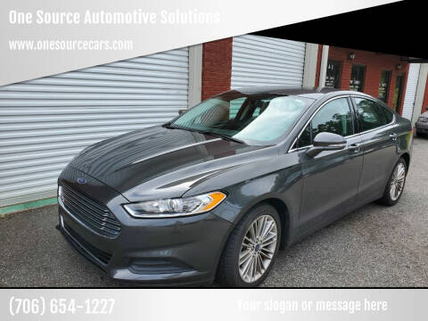 2015 Ford Fusion for sale at One Source Automotive Solutions in Braselton GA