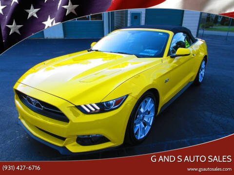 2015 Ford Mustang for sale at G and S Auto Sales in Ardmore TN