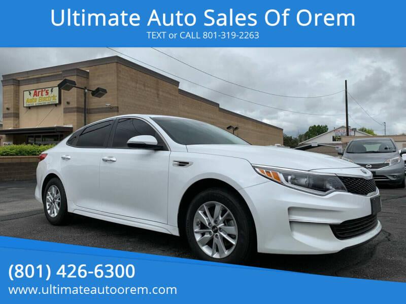 2016 Kia Optima for sale at Ultimate Auto Sales Of Orem in Orem UT