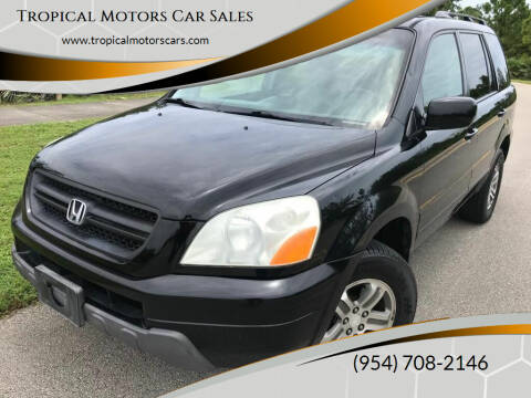 2003 Honda Pilot for sale at Tropical Motors Car Sales in Deerfield Beach FL