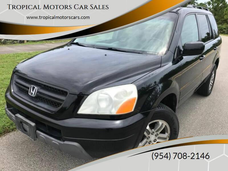 2003 Honda Pilot for sale at Tropical Motors Car Sales in Deerfield Beach FL