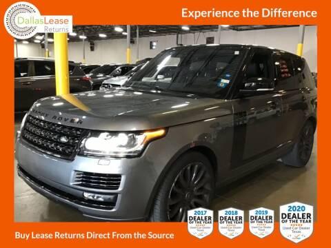 2017 Land Rover Range Rover for sale at Dallas Auto Finance in Dallas TX