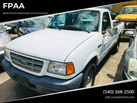 2003 Ford Ranger for sale at FPAA in Fredericksburg VA