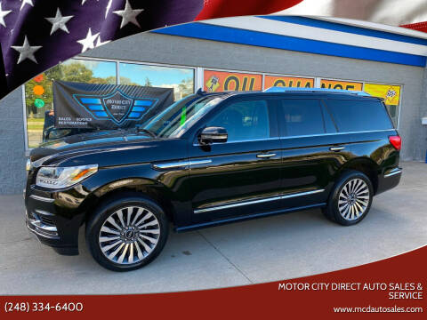 2018 Lincoln Navigator for sale at Motor City Direct Auto Sales & Service in Pontiac MI