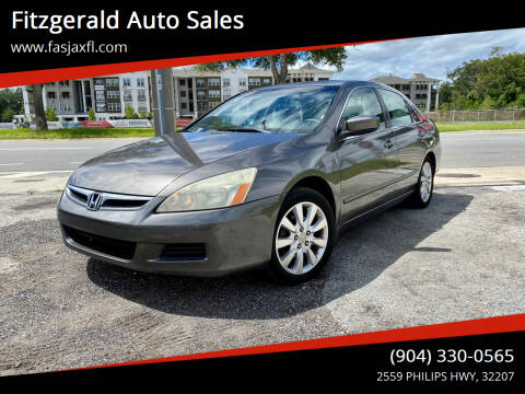 2006 Honda Accord for sale at Fitzgerald Auto Sales in Jacksonville FL