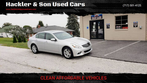 2010 Infiniti G37 Sedan for sale at Hackler & Son Used Cars in Red Lion PA