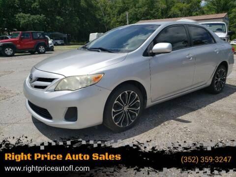 2011 Toyota Corolla for sale at Right Price Auto Sales in Waldo FL